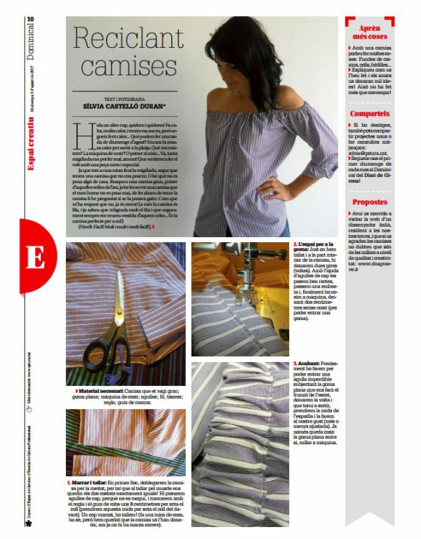 TUTORIAL: RECICLAR UNA CAMISA